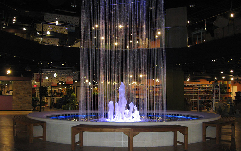 Water and Lighting Feature
