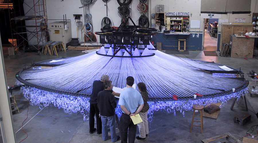 Fiber Optic Chandelier - Fabrication
