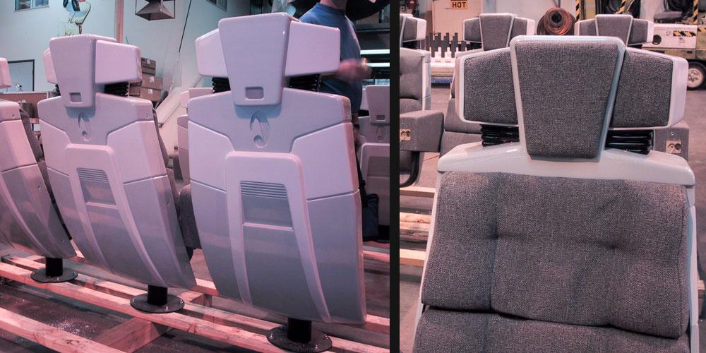 Borg Invasion 4D - Custom Seat Back