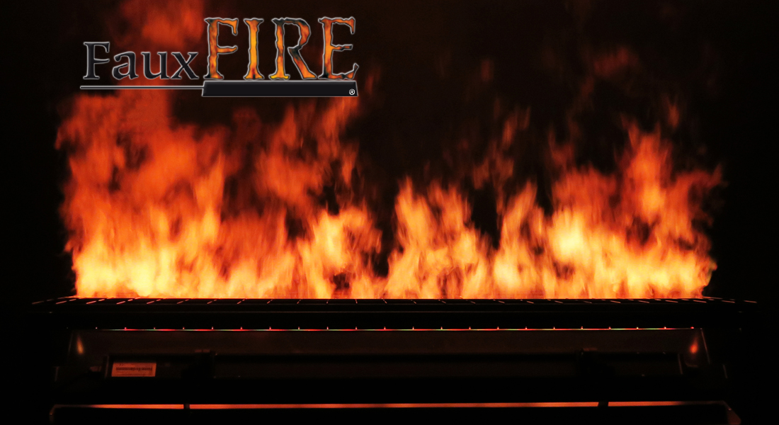 FauxFire® Simulated Fake Fire System - Technifex