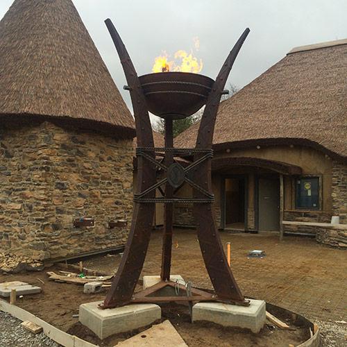 Fire Cauldrons - Installation