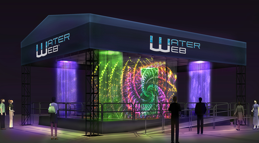 Water Web Water Maze - Concept Night