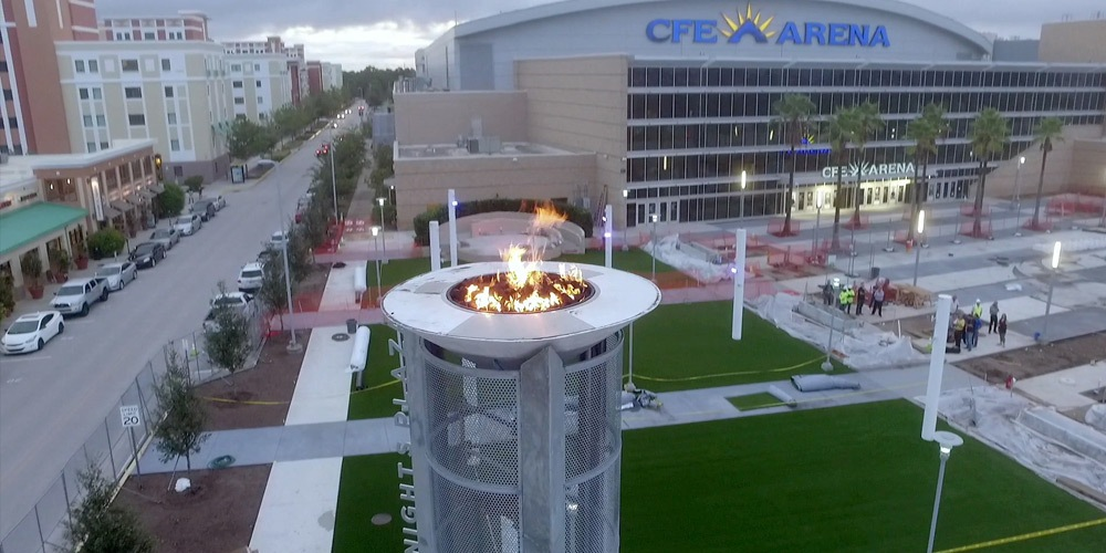 UCF Knights Plaza- Flame Torchieres