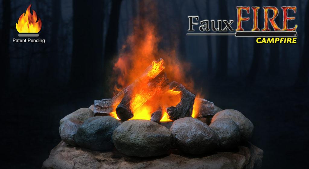 Simulated Fake Flame Campfire