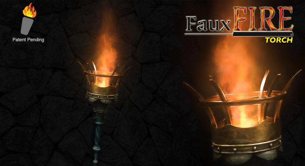 Simulated Fake Flame Torch